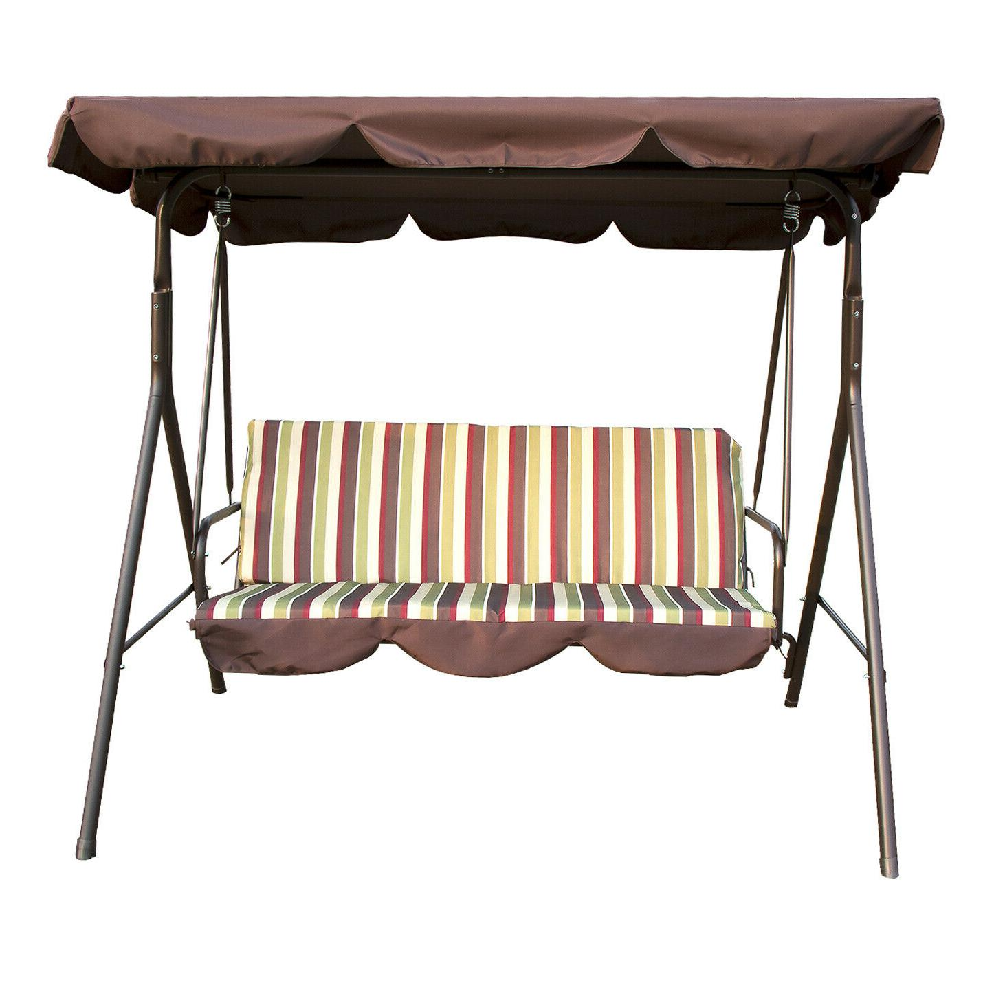 3 seat canopy swing chair