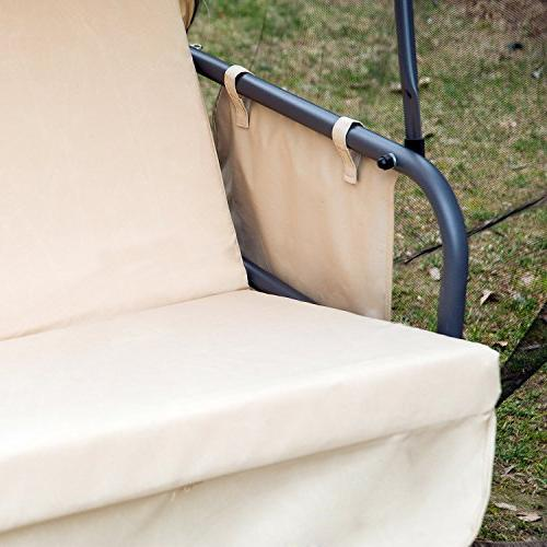 Outsunny Seat Covered Convertible Swing