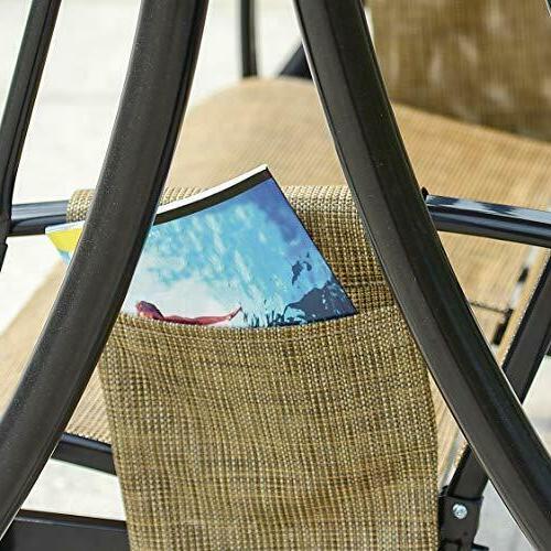 3-Seat Deluxe Outdoor Patio Porch w/ Resistant Steel