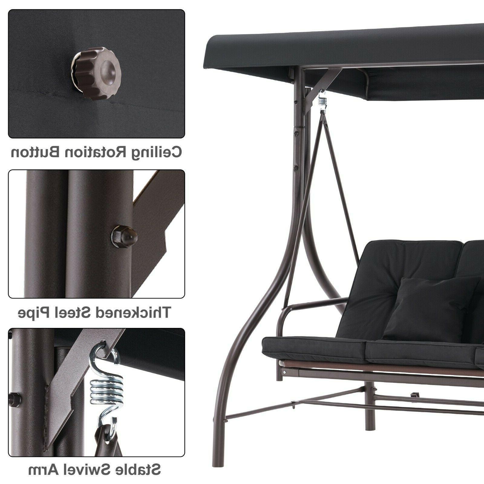 MCombo Outdoor Patio Swing Chair, Swing Glider