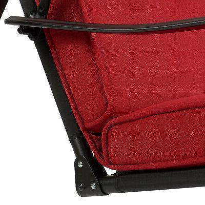 3-Seat Deck Swing Cushion Canopy Chair Frame