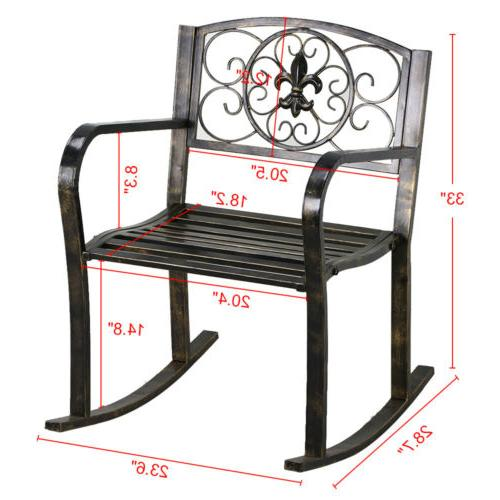 3PCS Metal Bistro Outdoor Porch Chair Patio