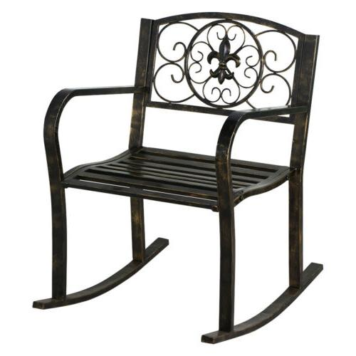 3PCS Metal Bistro Outdoor Front Chair Patio Furniture