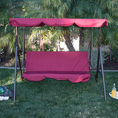 Porch Swing Soft Sunlight Protection 3 Polyester Bench