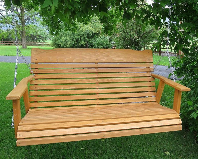 Kilmer Creek 4' Porch Swing W/Stained Finish, Amish Cha