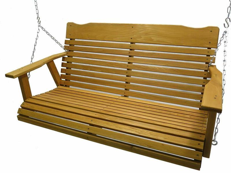 4 cedar porch swing w stained finish