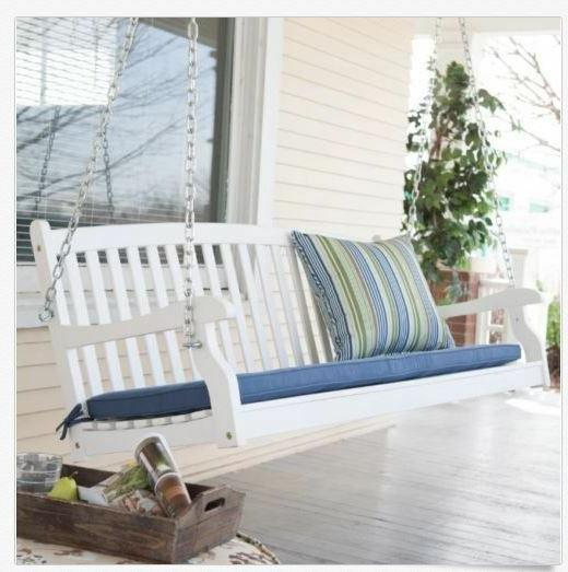 4 ft Bench White Furniture Backyard Slat