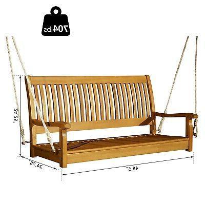 "48"" Acacia Wood Person Porch Bench"