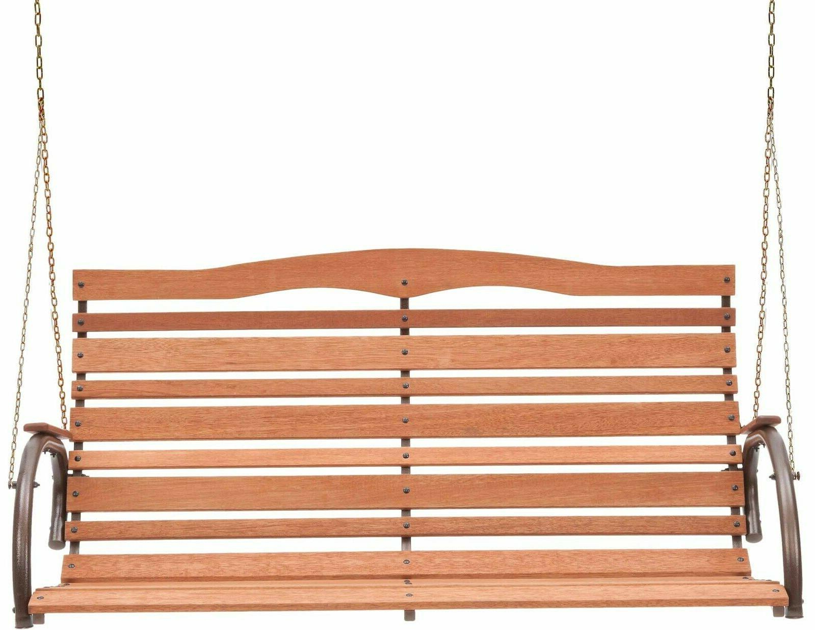 """48"""" Porch Swing with Brown Post"""