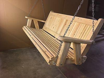 4ft pine country style porch swing handmade