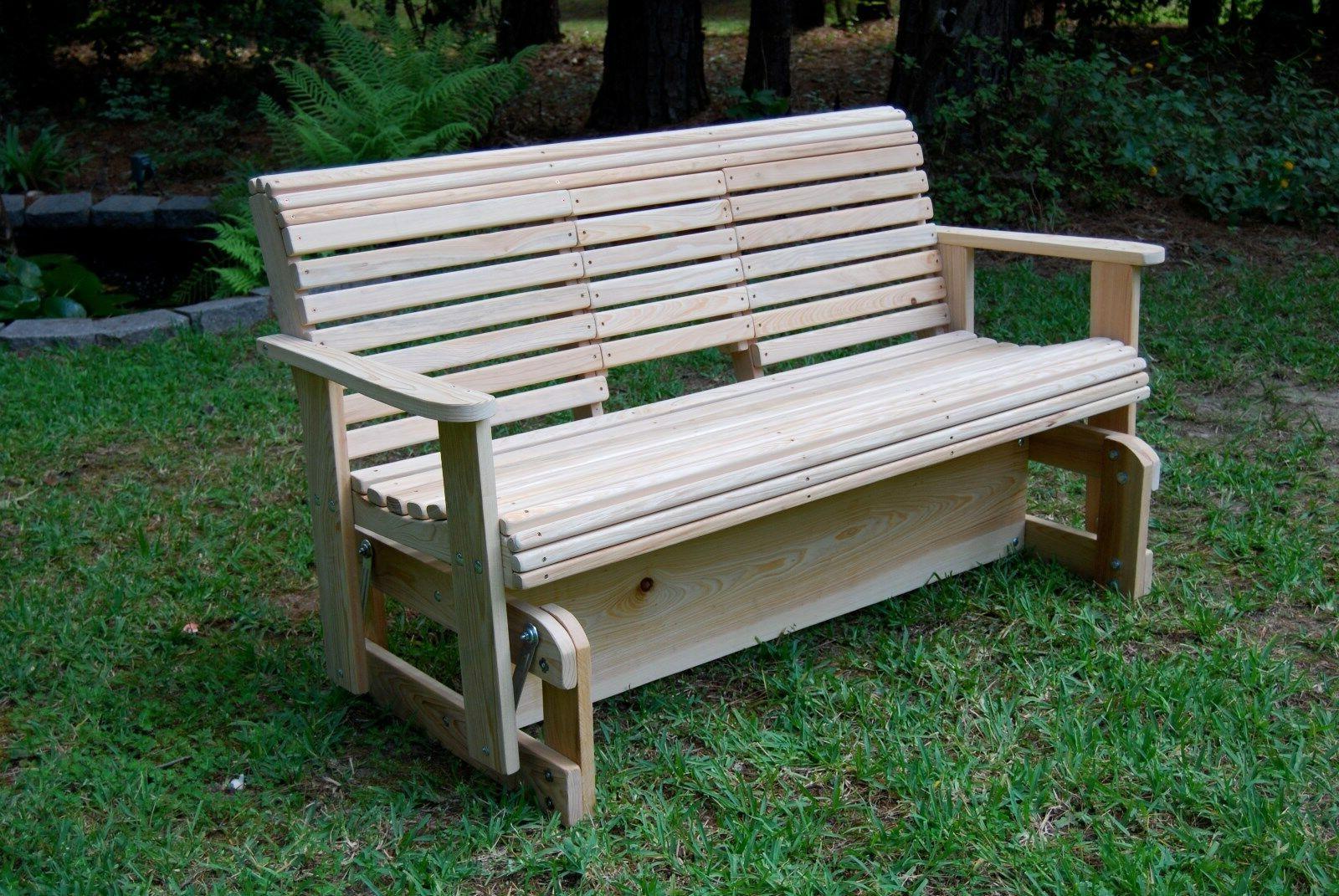 5' Wood FREESTANDING GLIDER YARD USA