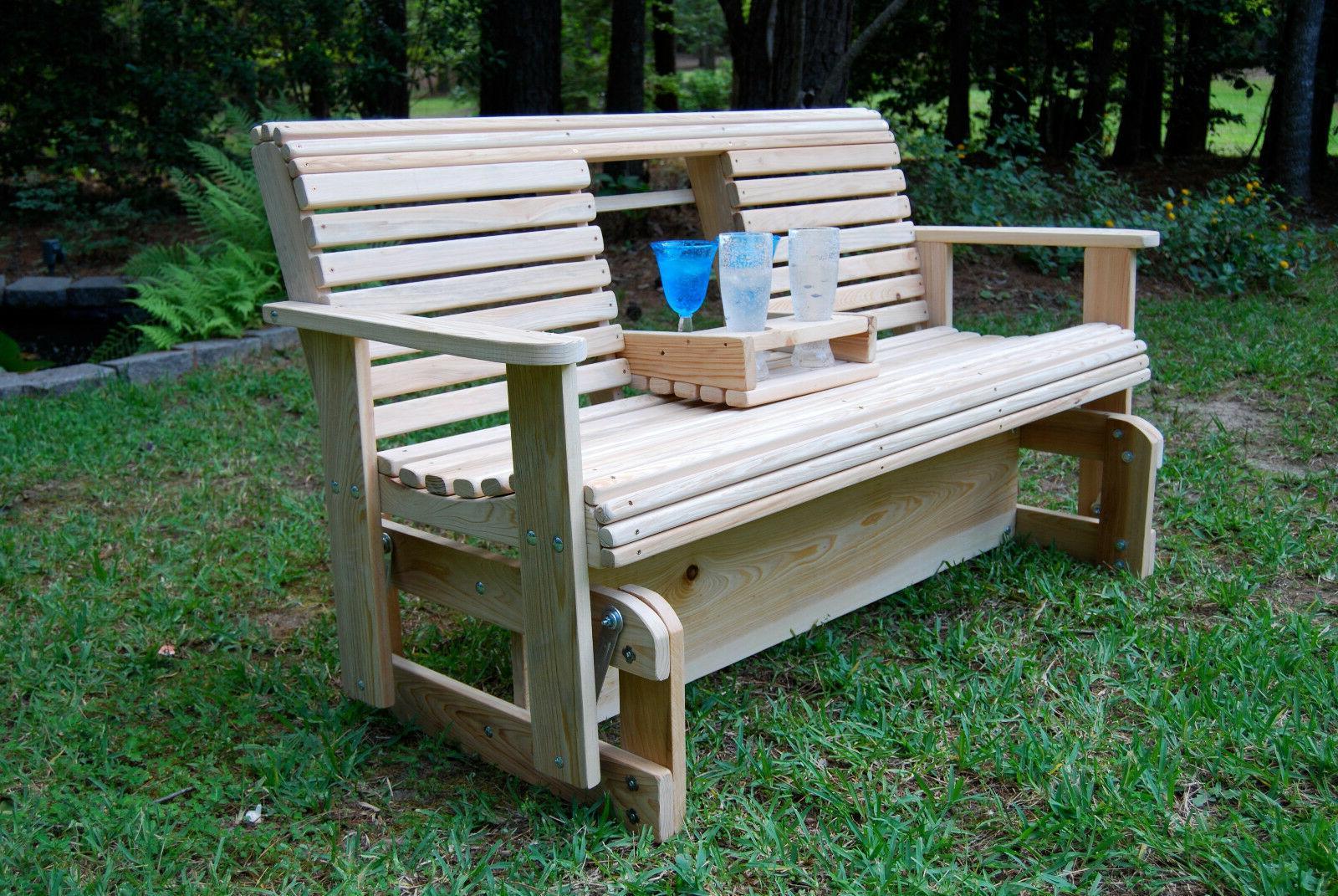 5' CYPRESS Wooden FREESTANDING GLIDER PORCH YARD