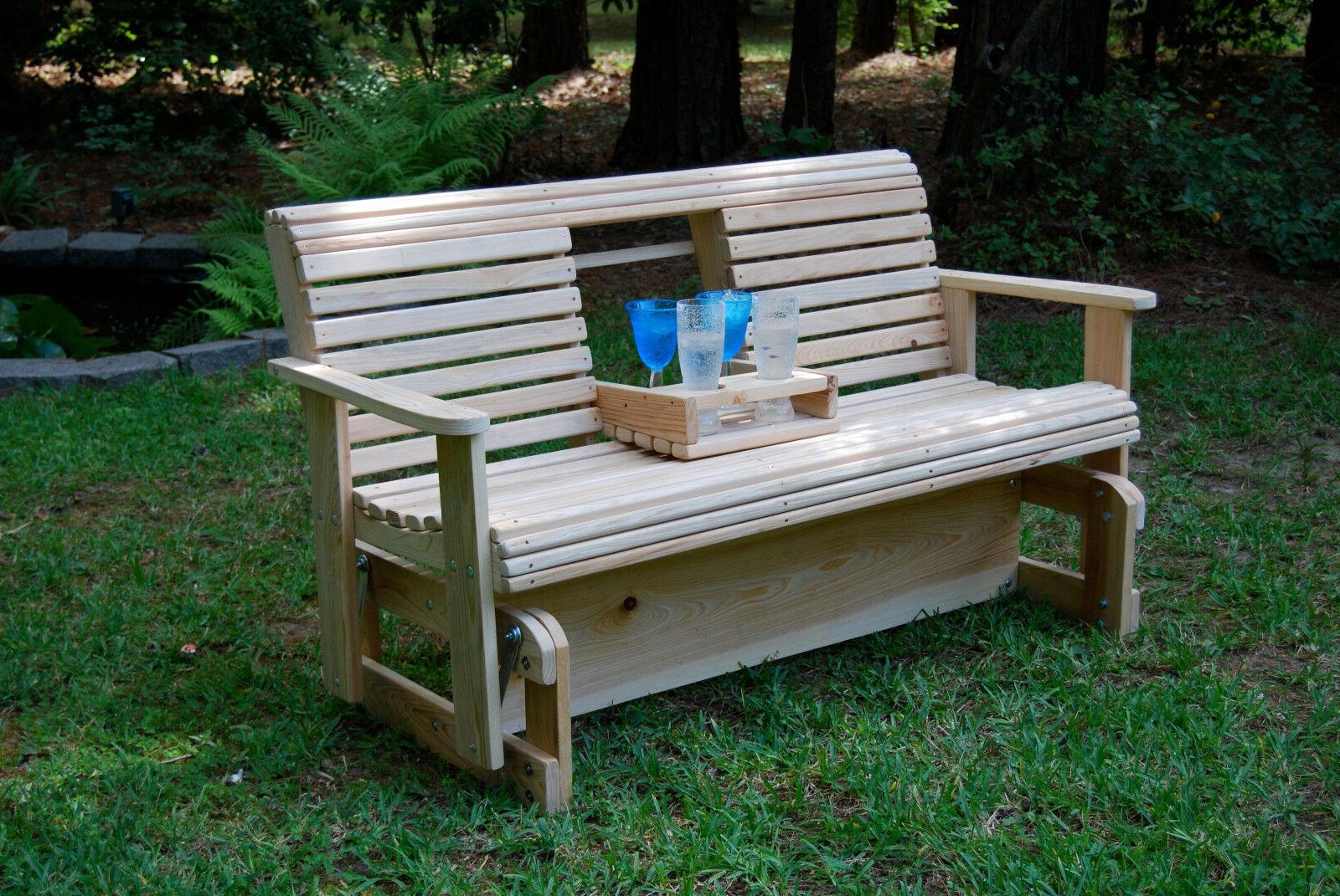 5 cypress wood wooden freestanding glider slider