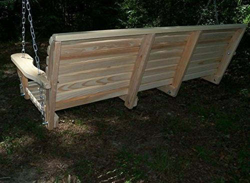 5 Ft Made the Rot Resistant Cypress Roll Porch with Swing-mate™ Comfort