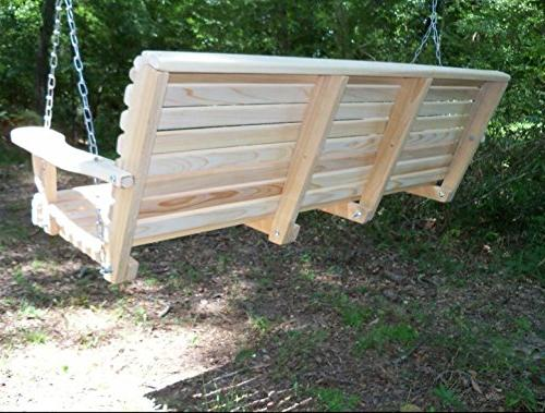 5 Ft Made USA Rot Cypress Roll Porch with Comfort