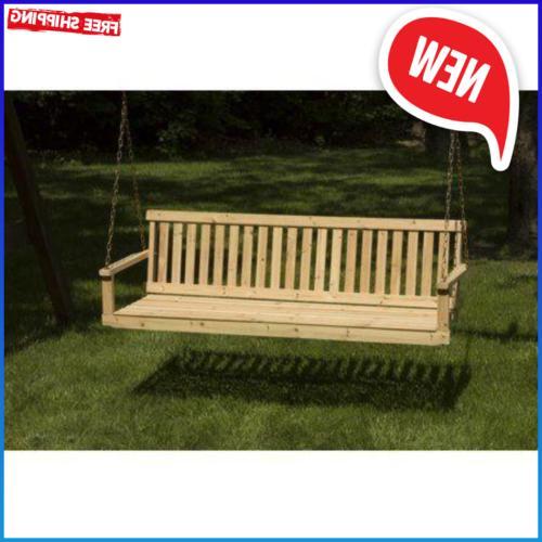 5 ft porch swing bench patio garden