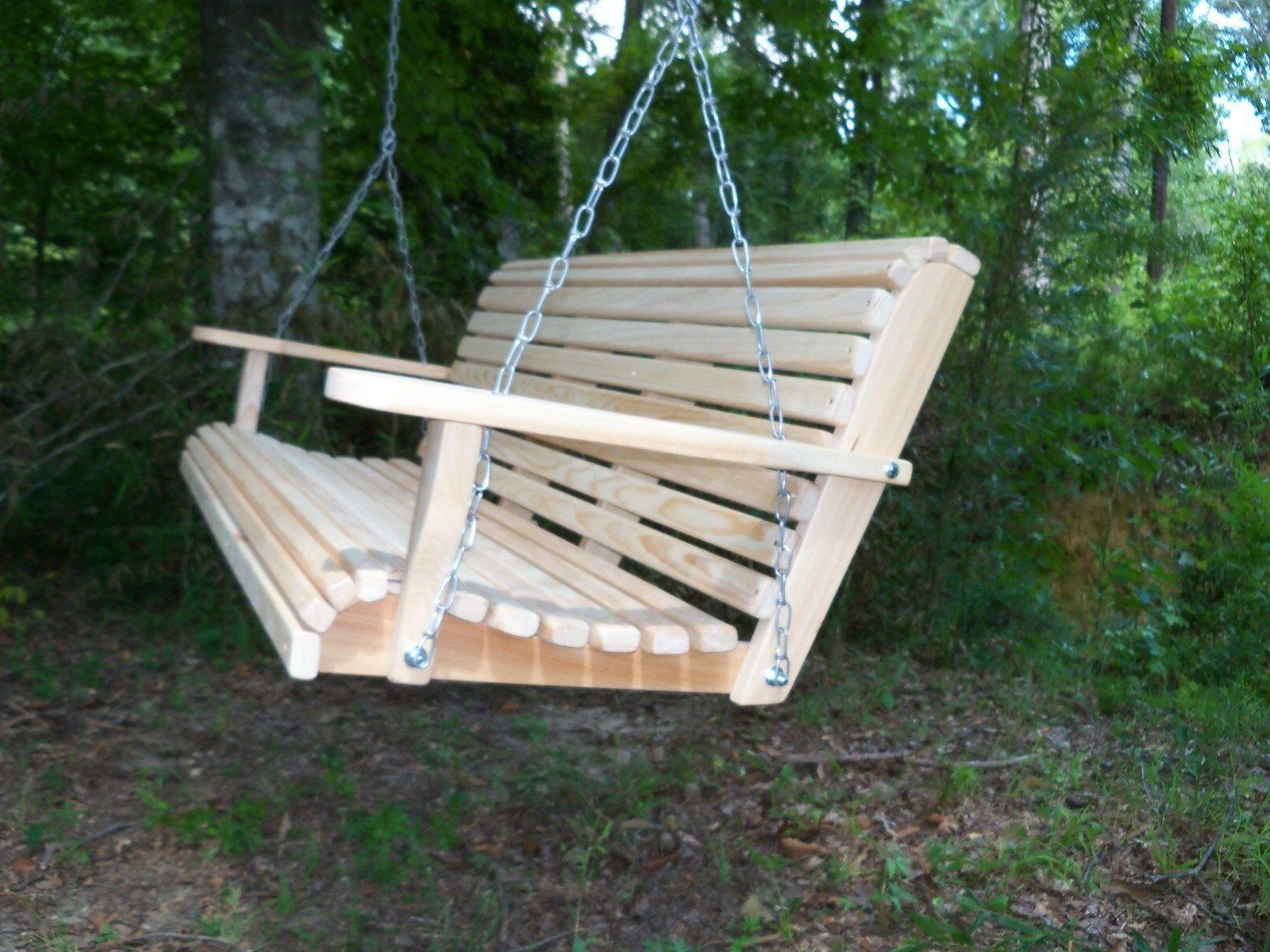 4ft Deluxe Roll Wood Swing w/