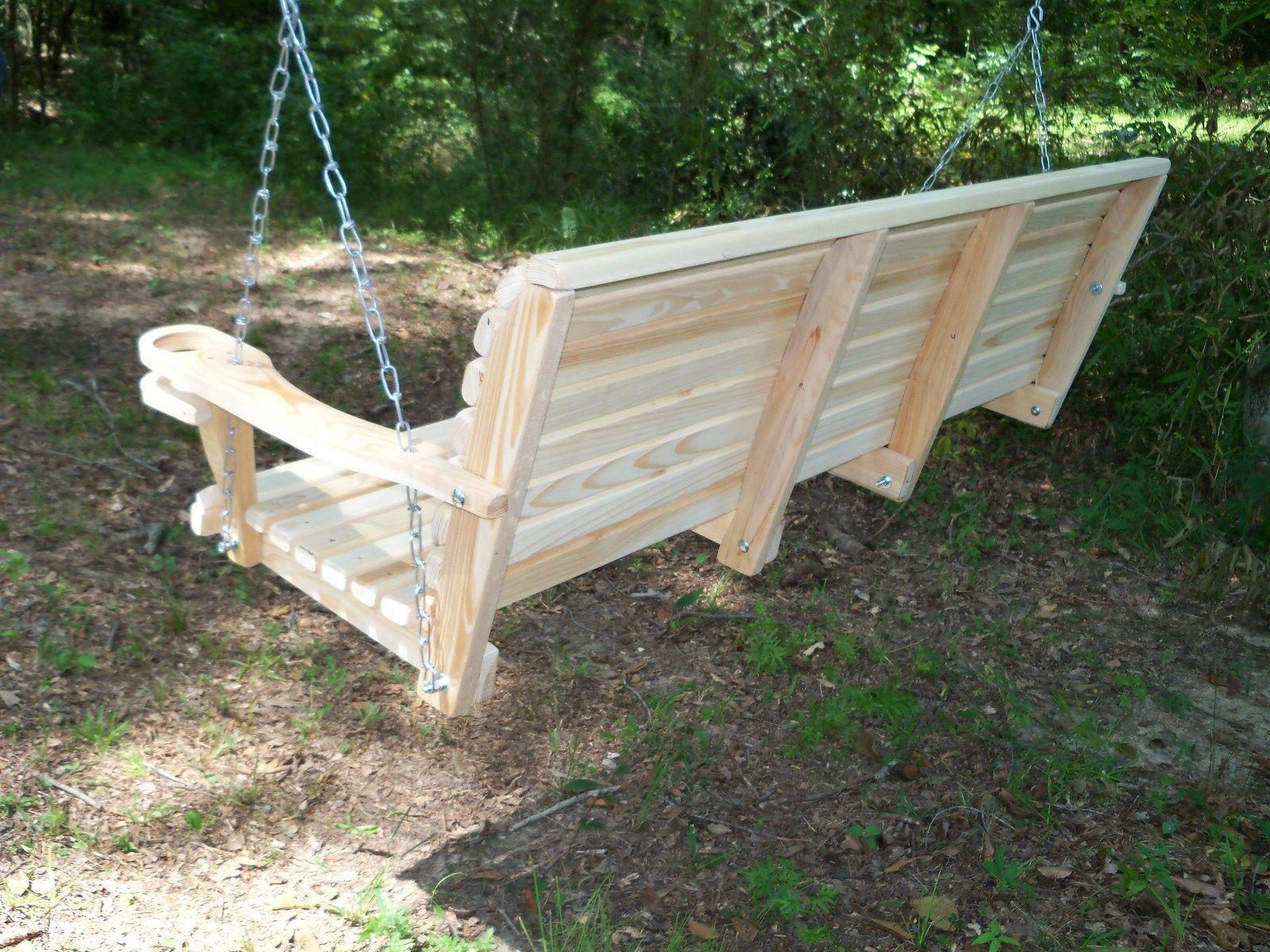5ft REG Wooden Bench Swing WITH HANGING Made In USA
