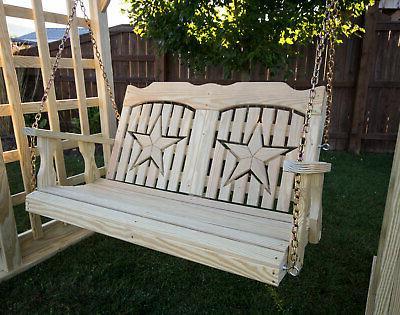 53 treated pine starback porch swing