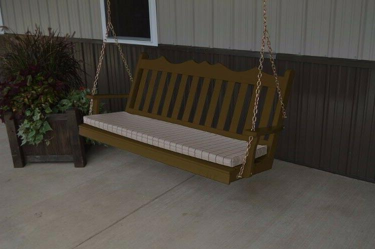 A&L Furniture Amish-Made Pine Royal Porch Swings - 4 18