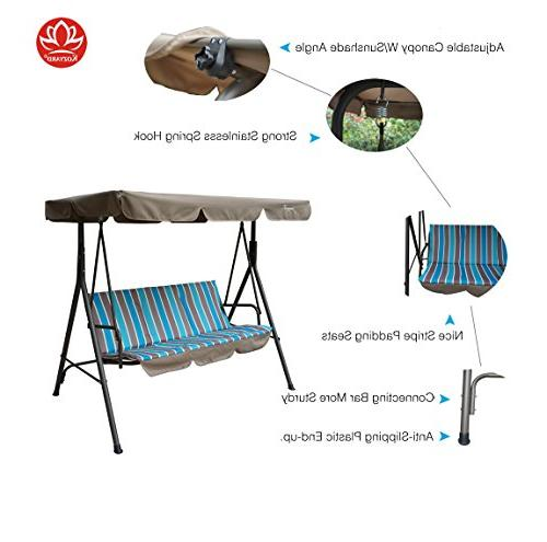 Kozyard Patio Chair 3 Cushion and Strong Weather Powder Steel