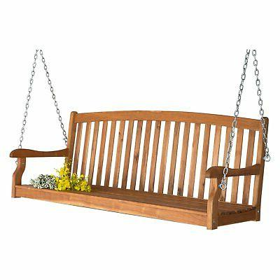Coral Porch Swing - Natural Stain