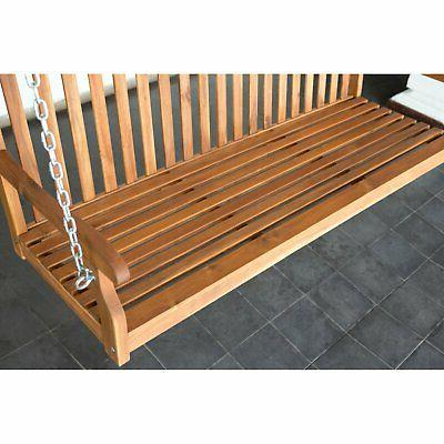 Coral Coast Amherst Porch Swing Natural Stain