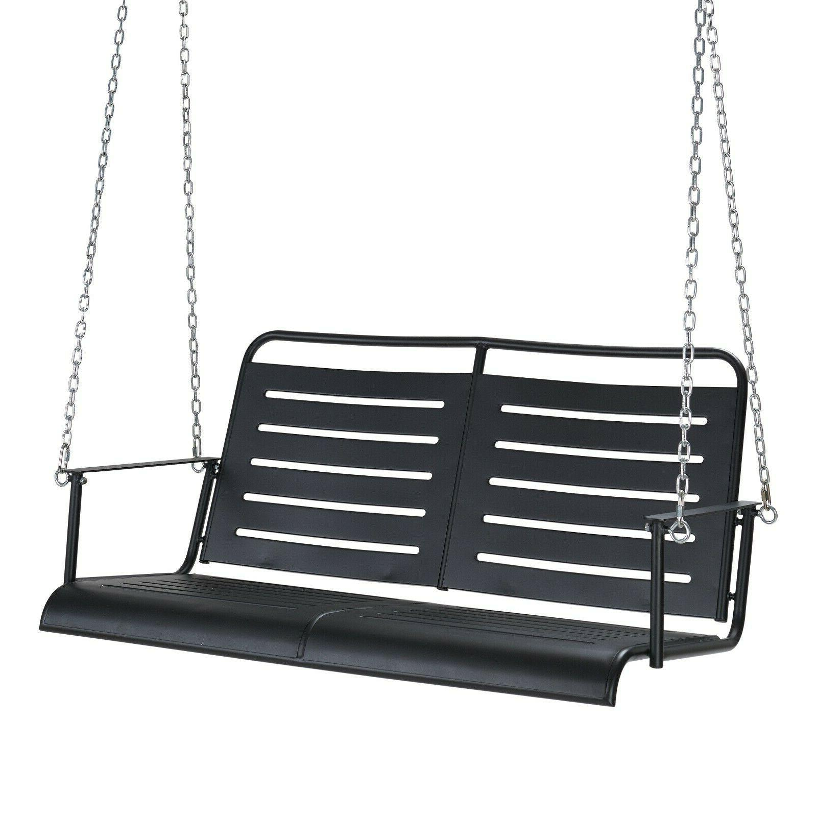 Auden Outdoor Swing Metal Swing Black