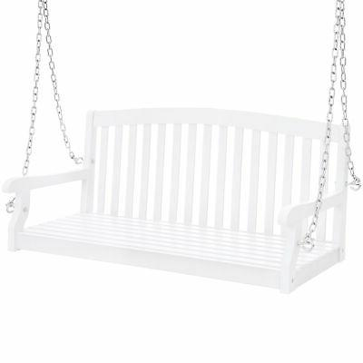 bcp wooden porch swing w hanging chains