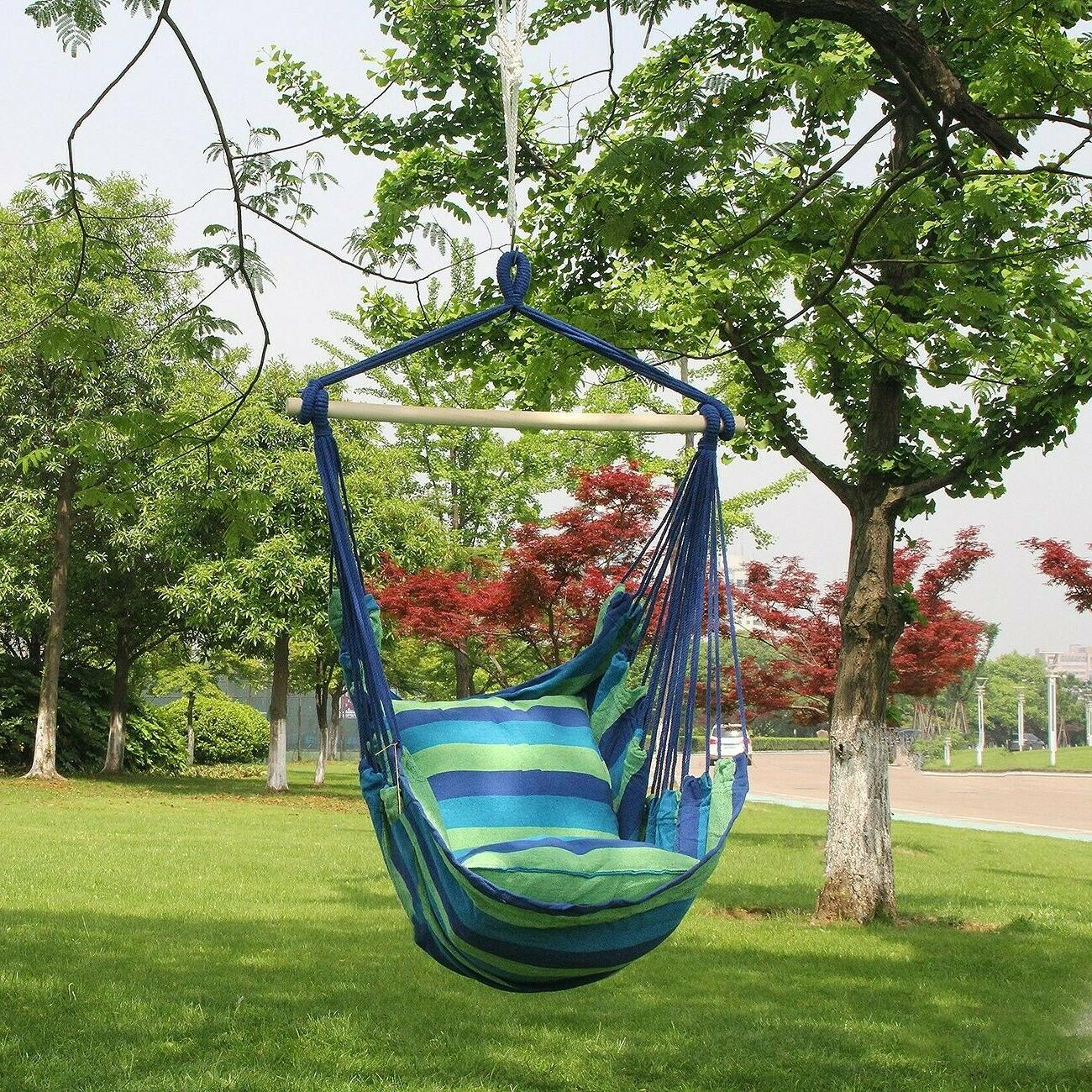 Bedroom Hammock Chair Rope Swing Seat Outdoor Indoor Patio 265Lbs