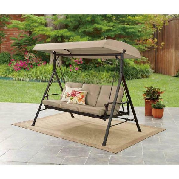 beige outdoor garden 3 seat patio porch