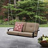 Mainstays Belden Park Outdoor Porch Swing - Tan Seaside Sand