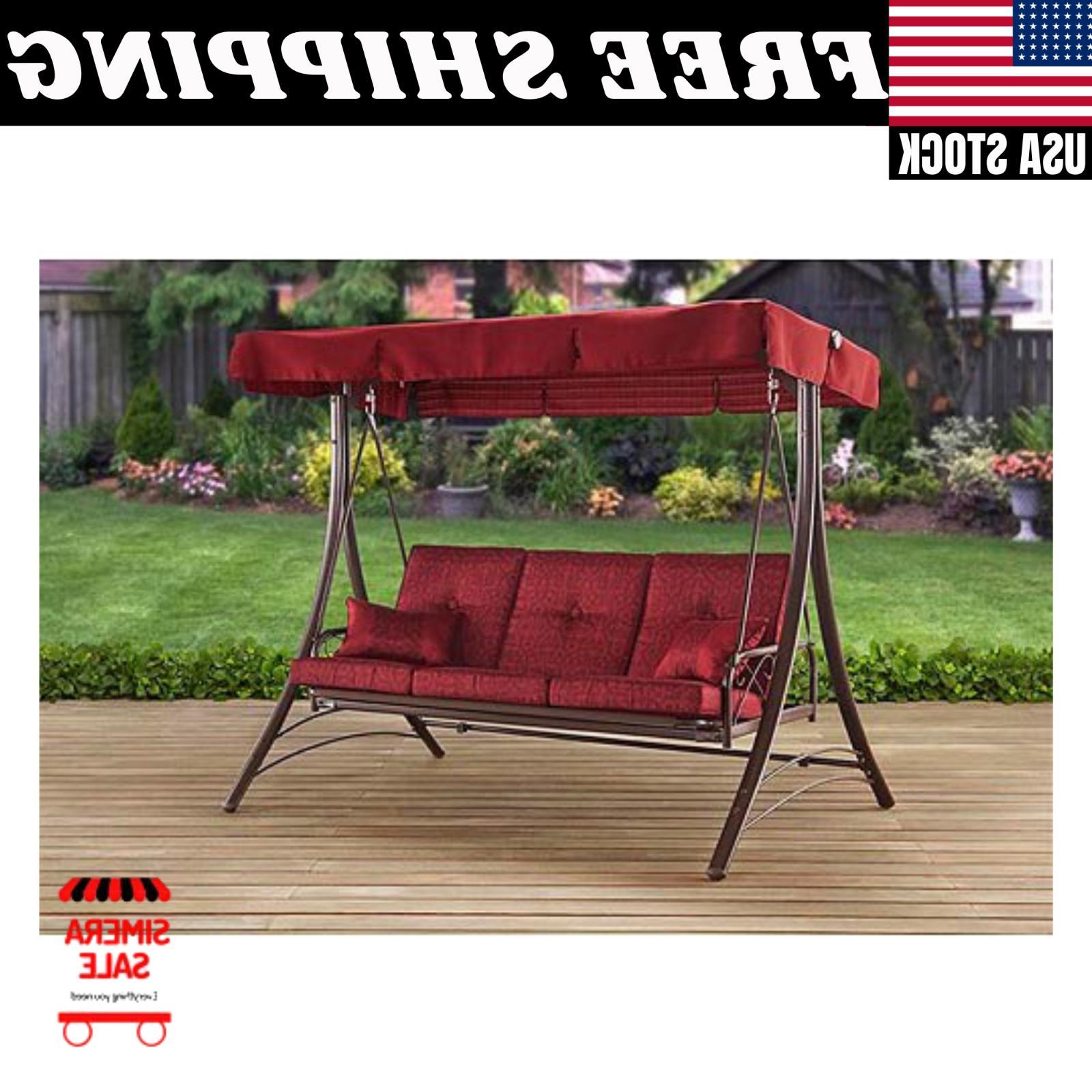 callimont park 3 seat adjustable canopy recliner