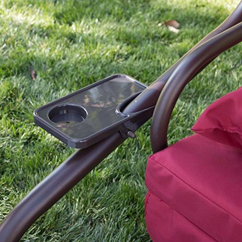Belleze Outdoor Swing Motion Converting Rocking Chair UV Blocker 3 Flatbed Cool