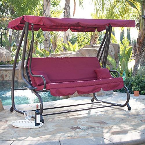 canopy porch swing bed hammock