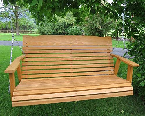 Kilmer Creek Cedar Porch Swing Amish Chain & Springs