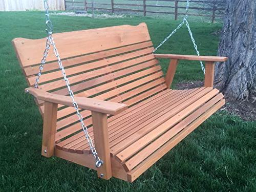 Kilmer Creek Porch Swing W/stained Amish Crafted -