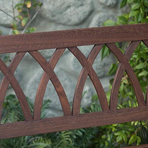 Classically Porch Swing Crafted From Eucalyptus In Brown