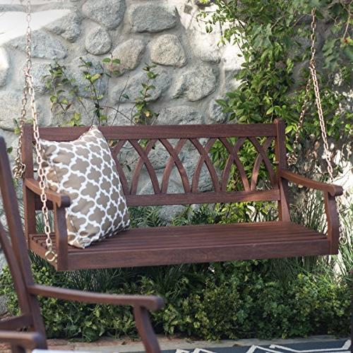 classically curved porch swing crafted