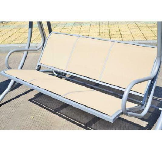 Outsunny Covered Outdoor Swing Bench Frame, Sand
