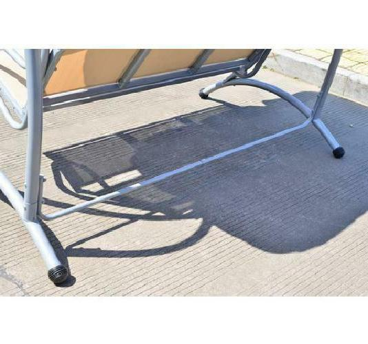 Outsunny Swing Bench With Frame, Sand