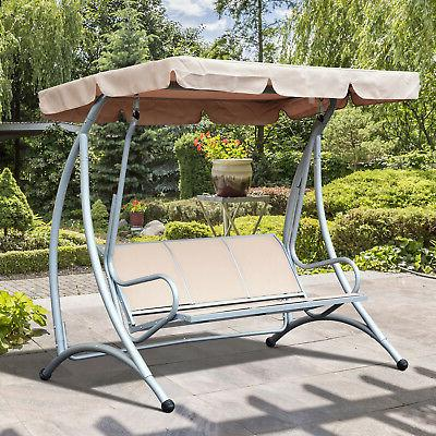 covered patio swing bench