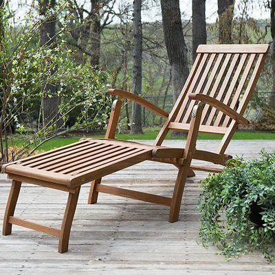 dorado acacia steamer deck lounge chair