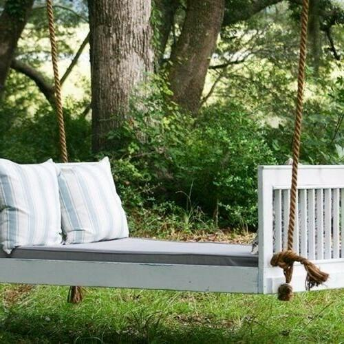 farmhouse porch bed sleigh swing