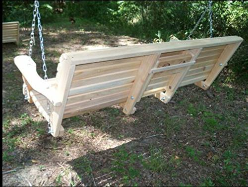 Ecommersify Console Rot-resistant Wood Lumber Porch Swing, 5-Feet