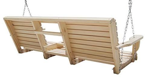 Ecommersify Flip Console Rot-resistant Eternal Wood Lumber Roll Porch Swing,