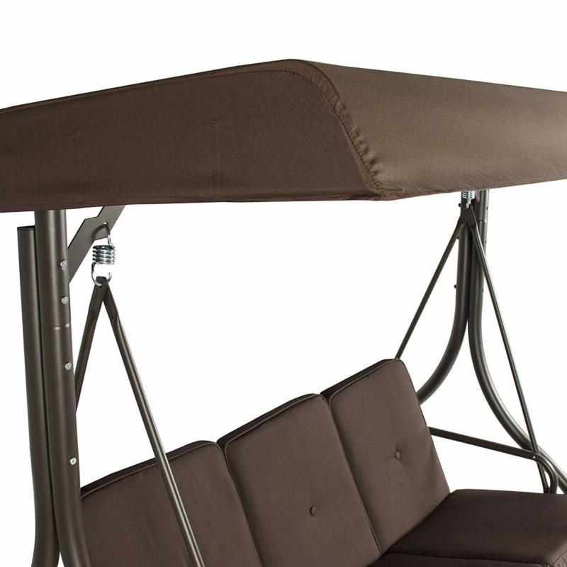 Front Set Patio With Canopy Swinging Bench