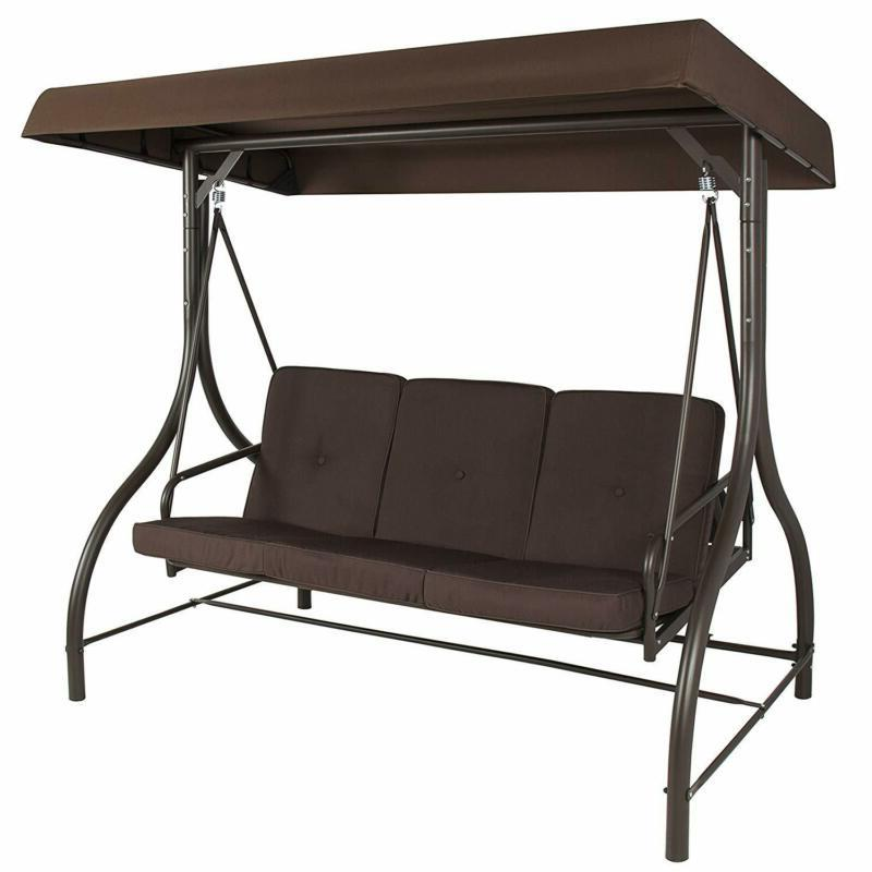 Front Porch 3-Person Set Outdoor Patio With Swinging Bench
