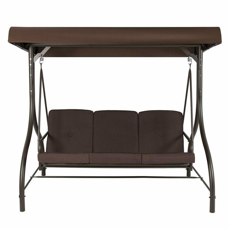 Front Porch 3-Person Set Outdoor With Canopy