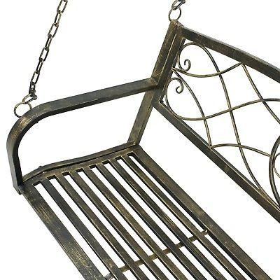 Outdoor Furniture Metal Hanging Patio Black